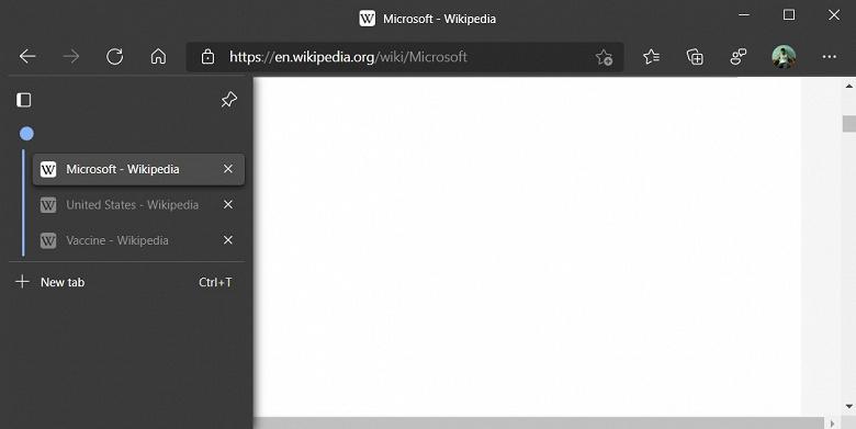 Microsoft Edge на пороге огромного обновления — вертикальные вкладки и не только они