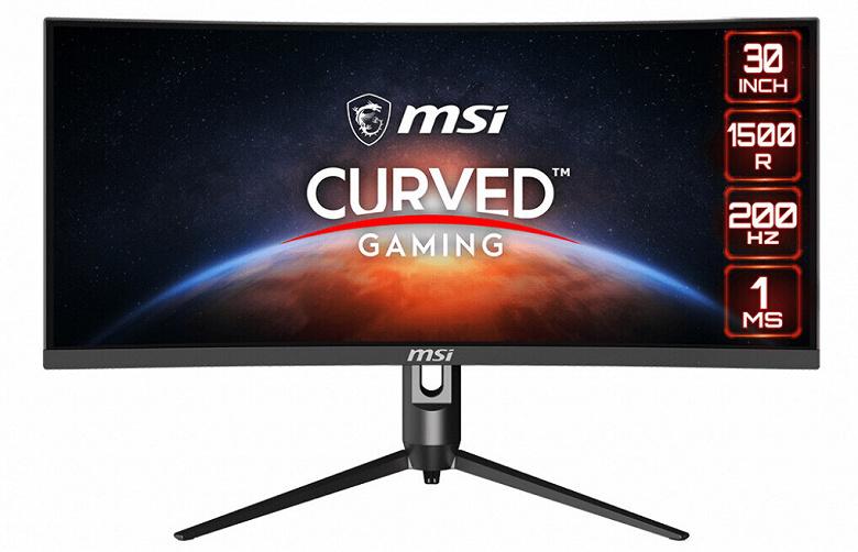 Основой игрового монитора MSI Optix MAG301 CR2 служит 30-дюймовая вогнутая панель