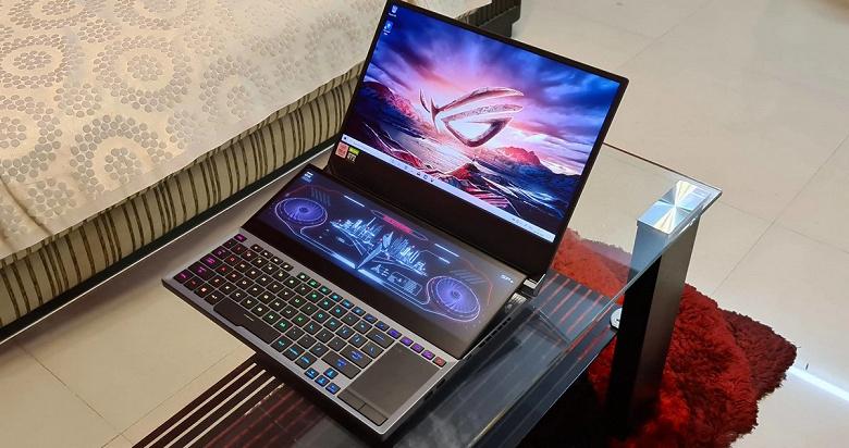 Очень дорогой ноутбук Asus с двумя экранами и вызывающим вопросы новым процессором Intel. ROGZephyrusDuo15 SE на подходе