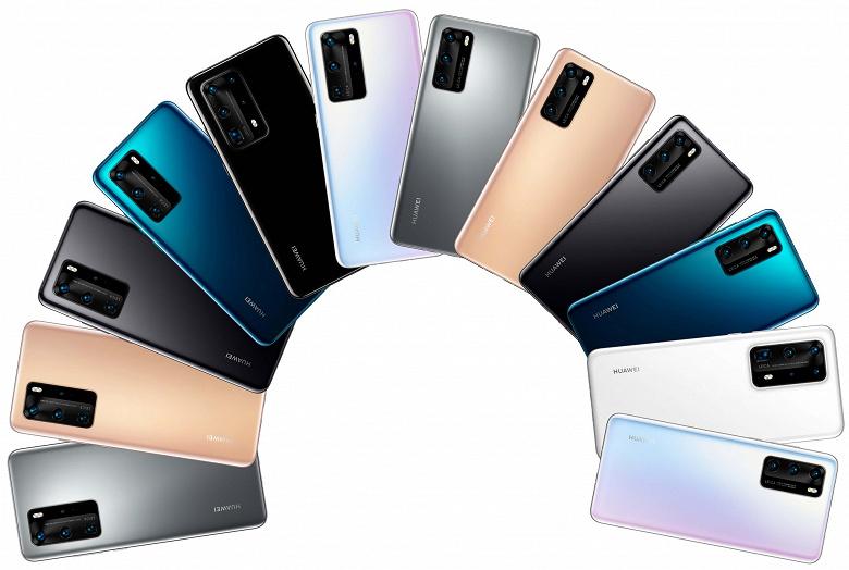 Целая дюжина. Вся радуга смартфонов серии Huawei P40 от мала до велика