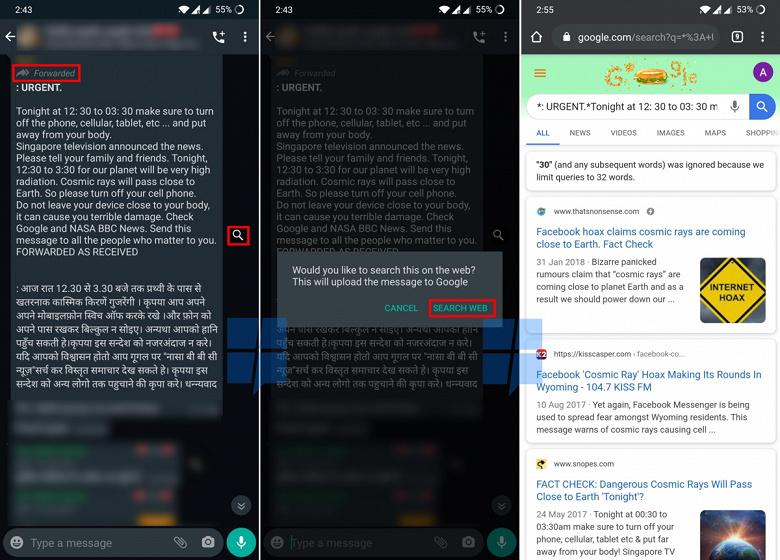 Популярный мессенджер WhatsApp поможет отличить правду от лжи