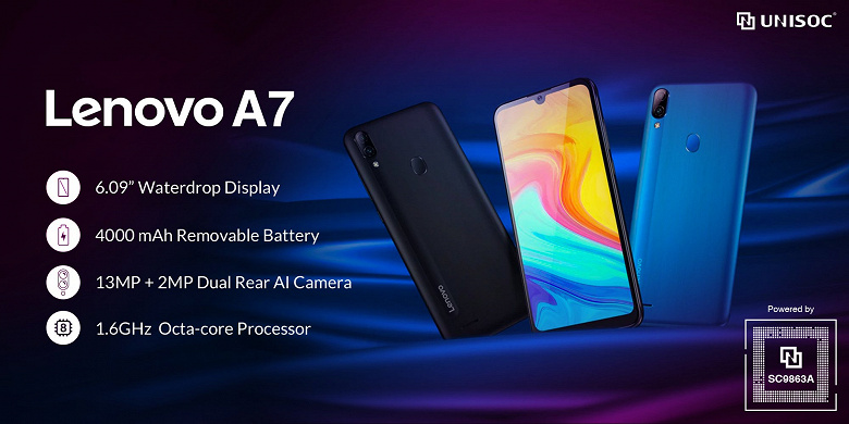 Представлен долгоиграющий смартфон Lenovo A7 с чипом Unisoc