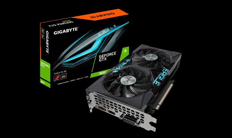 Бюджетная видеокарта с хорошим кулером, памятью GDDR6 и впечатляющим разгоном. Представлена Gigabyte GeForce GTX 1650 D6 Eagle OC 4G