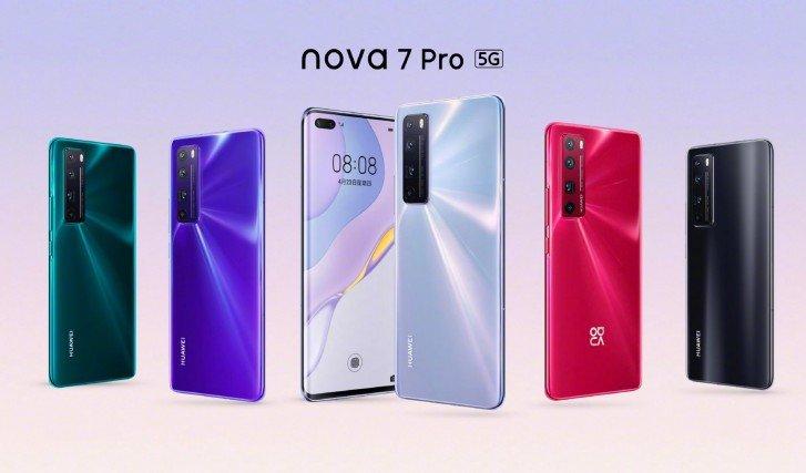 По 64 Мп и 4000 мА·ч на брата. Представлены смартфоны Huawei nova 7, nova 7 Pro и nova 7 SE