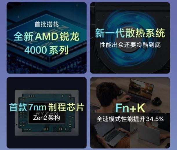 Новые ноутбуки Redmi получили три режима производительности