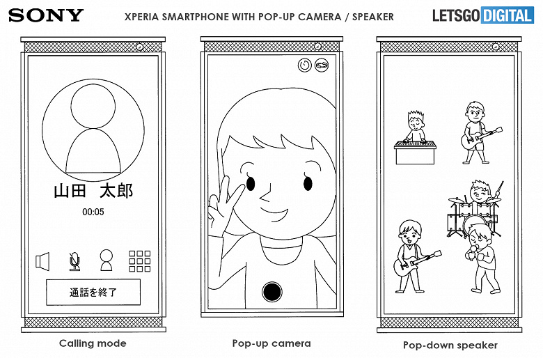 У этого смартфона Sony Xperia выдвижная не только камера, но и динамик