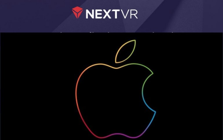 Компания Apple купила NextVR, поставщика контента для гарнитур виртуальной реальности