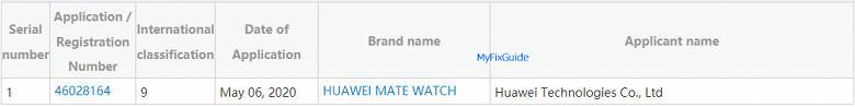 Неожиданное пополнение линейки Huawei Mate. Зарегистрированы умные часы Huawei Mate Watch