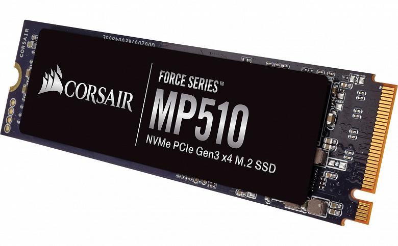 Накопитель Corsair Force Series MP510 объемом 4 ТБ оценен в 800 долларов