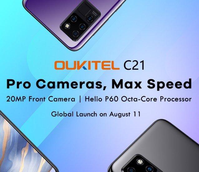 Helio P60, FullHD+, квадрокамера, 4/64 ГБ по цене менее $100. Oukitel готовит лучший смартфон в своей ценовой категории