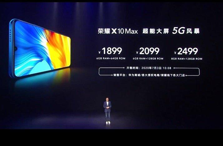 Экран диагональю 7,09 дюйма, MediaTek Dimensity 800, 5G, 48 Мп и 5000 мА·ч за $270. Представлен Honor X10 Max