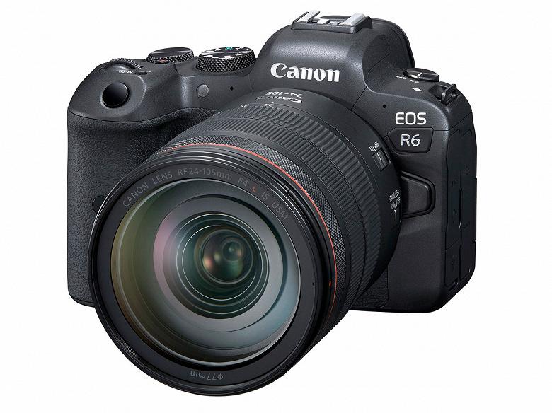 Камера Canon EOS R6 во многом похожа на EOS R5, но стоит заметно меньше