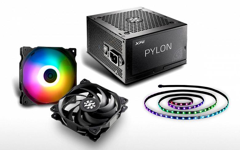 Компания Adata представила блоки питания XPG Pylon и вентиляторы XPG Vento