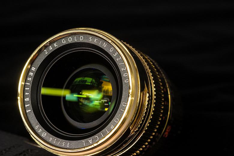 Объективов TTartisan 35mm f/1.4 24K Gold Skin будет выпущено 200 штук