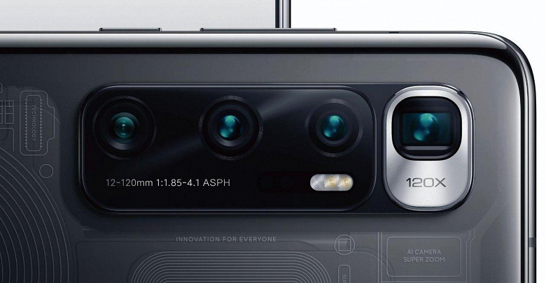 Фото подтверждает форму камеры Xiaomi Mi 10 Ultra и демонстрирует два защитных чехла