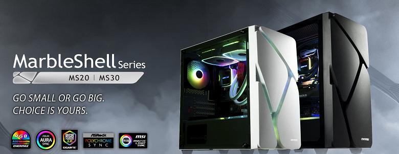 Серию компьютерных корпусов Enermax MarbleShell открыли модели MS20 и MS30