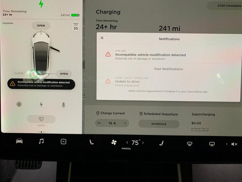 Tesla борется со сторонними модификациями прошивок своих электромобилей