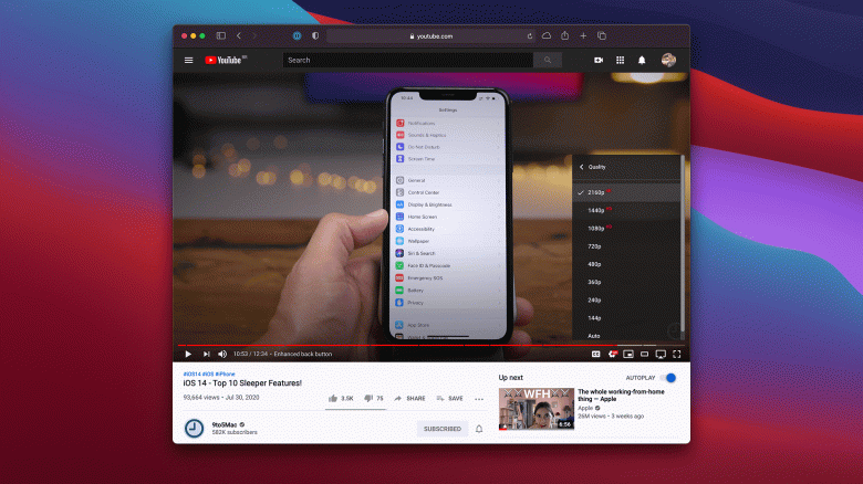 Пользователи Safari в macOS наконец-то могут смотреть видео 4K в YouTube