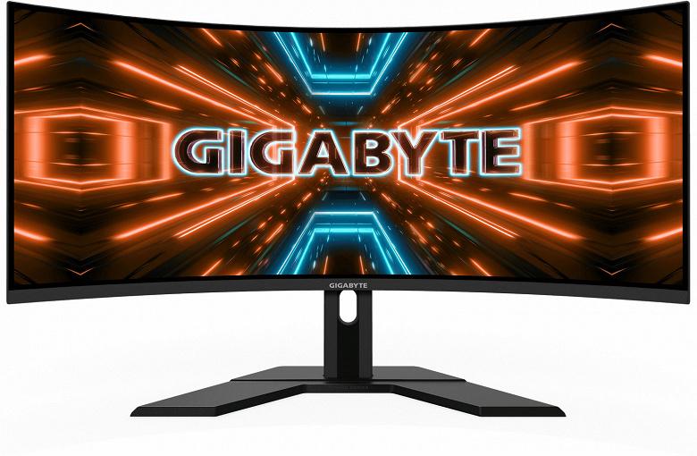 Основой монитора Gigabyte G34WQC служит 34-дюймовая панель разрешением 3440 x 1440 пикселей