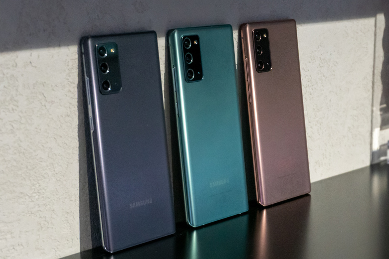 Представлены флагманские смартфоны Samsung Galaxy Note20 и Note20 Ultra