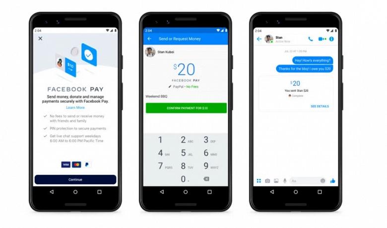 Платёжная система Facebook Pay заработала в России