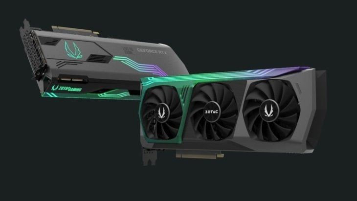 Огромная нереференсная Zotac Gaming GeForce RTX 3090 Trinity Holo на первом изображении