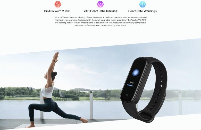 Экран AMOLED, мониторинг ЧСС, пульсоксиметр, Amazon Alexa и до 25 дней автономности. Это фитнес-браслет Amazfit Band 6