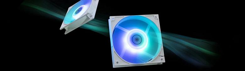 Представлены вентиляторы белого цвета EK-Vardar EVO 120ER D-RGB