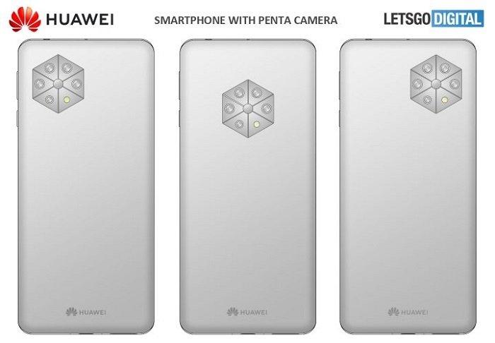 Пентакамера в гексагоне. Huawei запатентовала смартфон с нестандартной камерой