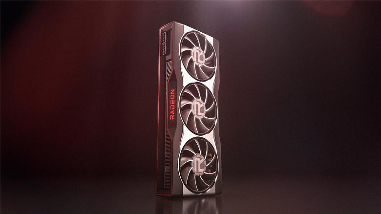Три вентилятора в базе. Официальный рендер видеокарты AMD Radeon RX 6000