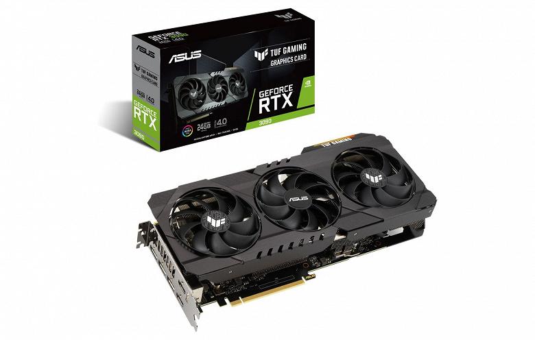 Asus представила видеокарты GeForce RTX 3090, RTX 3080 и RTX 3070