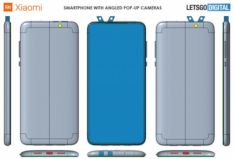 V — значит камера? Xiaomi запатентовала странный смартфон