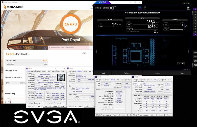 Вот если бы все GeForce RTX 3090 были такими. GPU модели EVGA GeForce RTX 3090 Kingpin разогнали до 2,58 ГГц