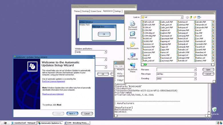 В Windows XP обнаружили секретную тему в стиле Mac