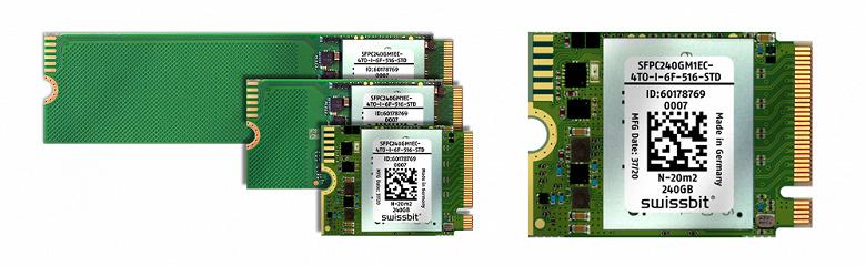 Миниатюрный SSD Swissbit N-20m2 предназначен для промышленных встраиваемых систем