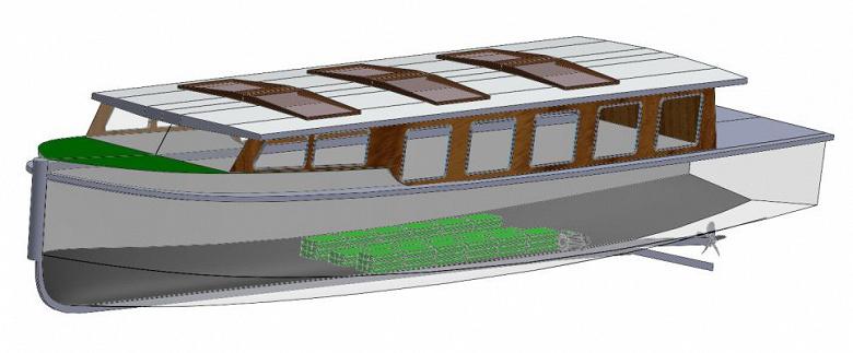 Тяговые батареи Tesla приспособили для пассажирских лодок