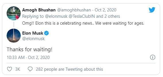 Tesla выйдет на рынок Индии в 2021 году