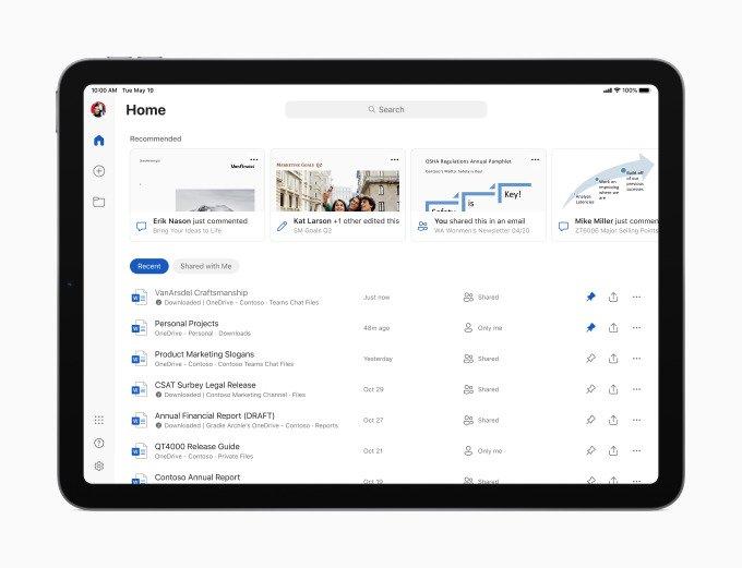 Microsoft Office на iPad, как на компьютере. Появилась поддержка мыши и трекпада