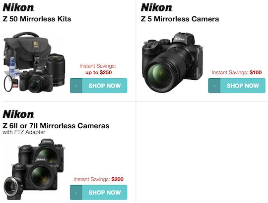 Покупая камеры Nikon Z 6II и Z 7II с адаптером FTZ, уже можно сэкономить 200 долларов