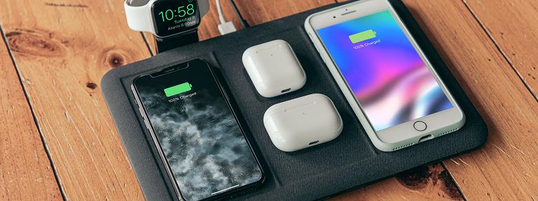 Беспроводная зарядка, позволяющая заряжать шесть устройств. Mophie 4-in-1 wireless charging mat действительно так может, но с оговорками