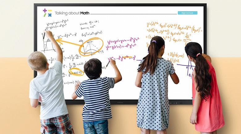Классная доска нового поколения. 85-дюймовая интерактивная панель Samsung Flip уже в России