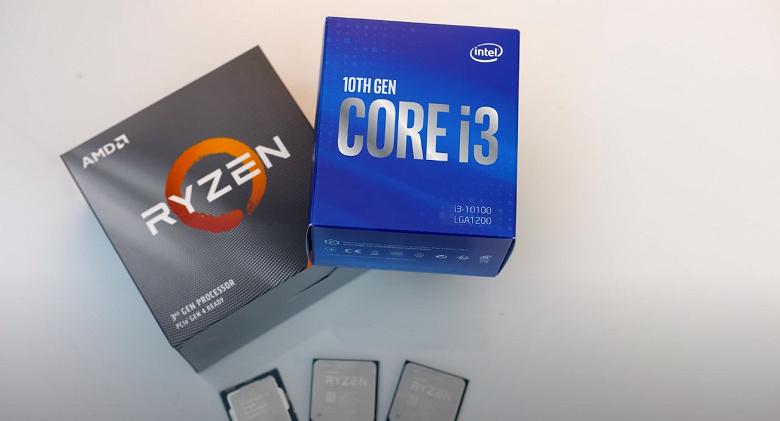 Как Intel бороться с дешёвыми Ryzen? Core i3-10100F лишился графического ядра, зато подешевел