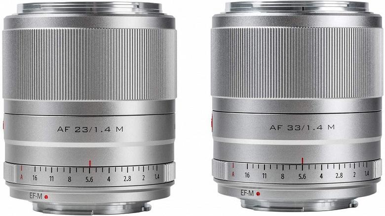 Начались продажи объективов Viltrox 23mm F1.4 STM и 33mm F1.4 STM с креплением Canon EF-M