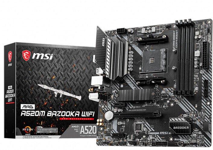 Системные платы MSI MAG A520M Bazooka WiFi и MAG B550M Vector WiFi относятся к начальному уровню