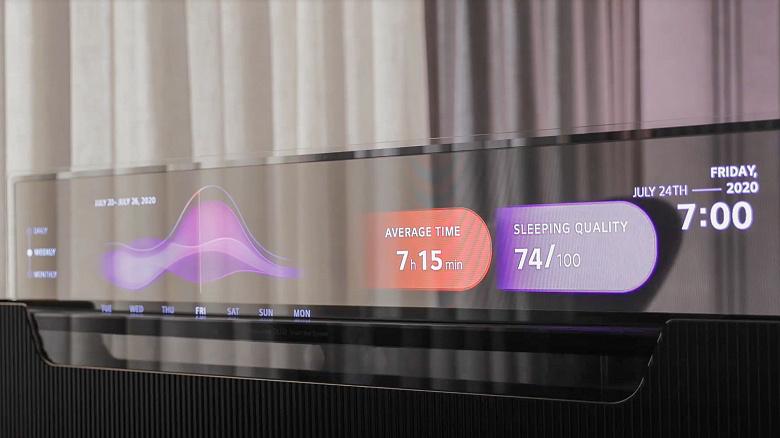 Первый в своём роде: прозрачный телевизор OLED, который можно спрятать в изножье кровати