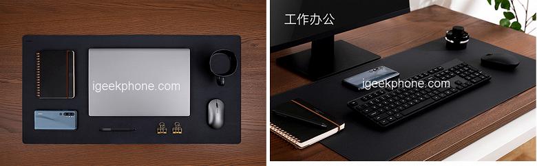 На этом коврике Xiaomi помещаются не только мышь, но и ноутбук, и телефон