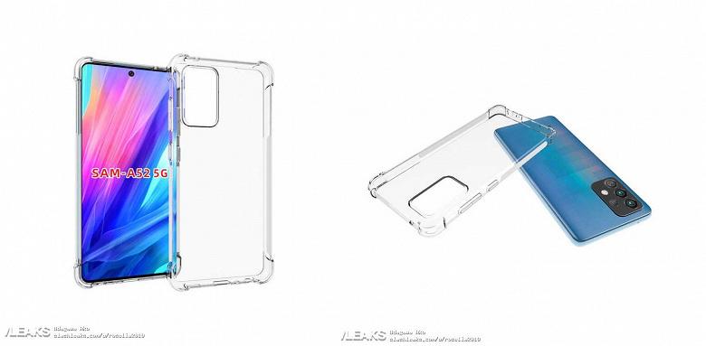 Смартфон Samsung Galaxy A52 показали со всех сторон в прозрачном чехле