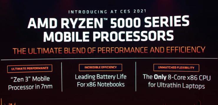 8 ядер, 4,8 ГГц и разгон. AMD представила процессоры Ryzen 5000H и Ryzen 5000U для ноутбуков