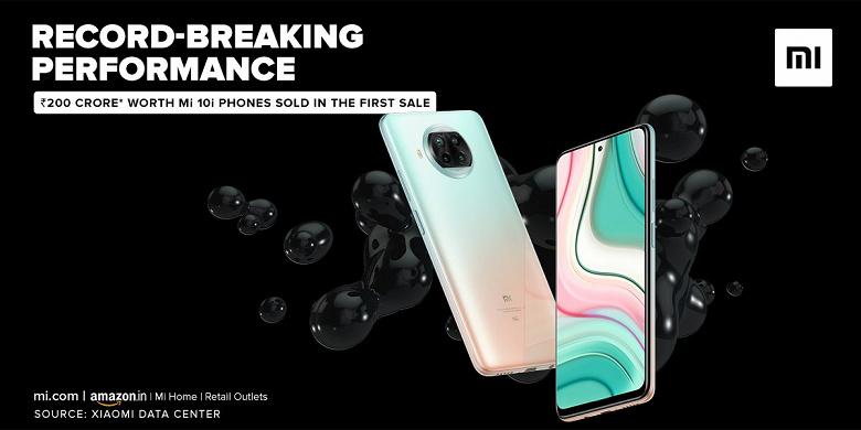 Xiaomi Mi 10i дешевле $300 оказался невероятным бестселлером