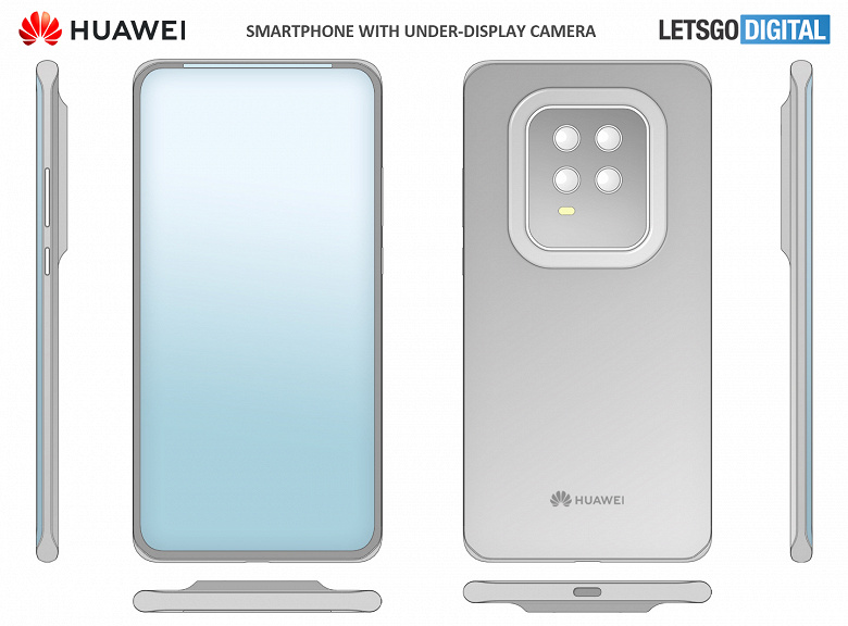 ?Скрытая фронтальная камера уже не интересно, Huawei пойдёт дальше. Системные значки переедут на рамки
